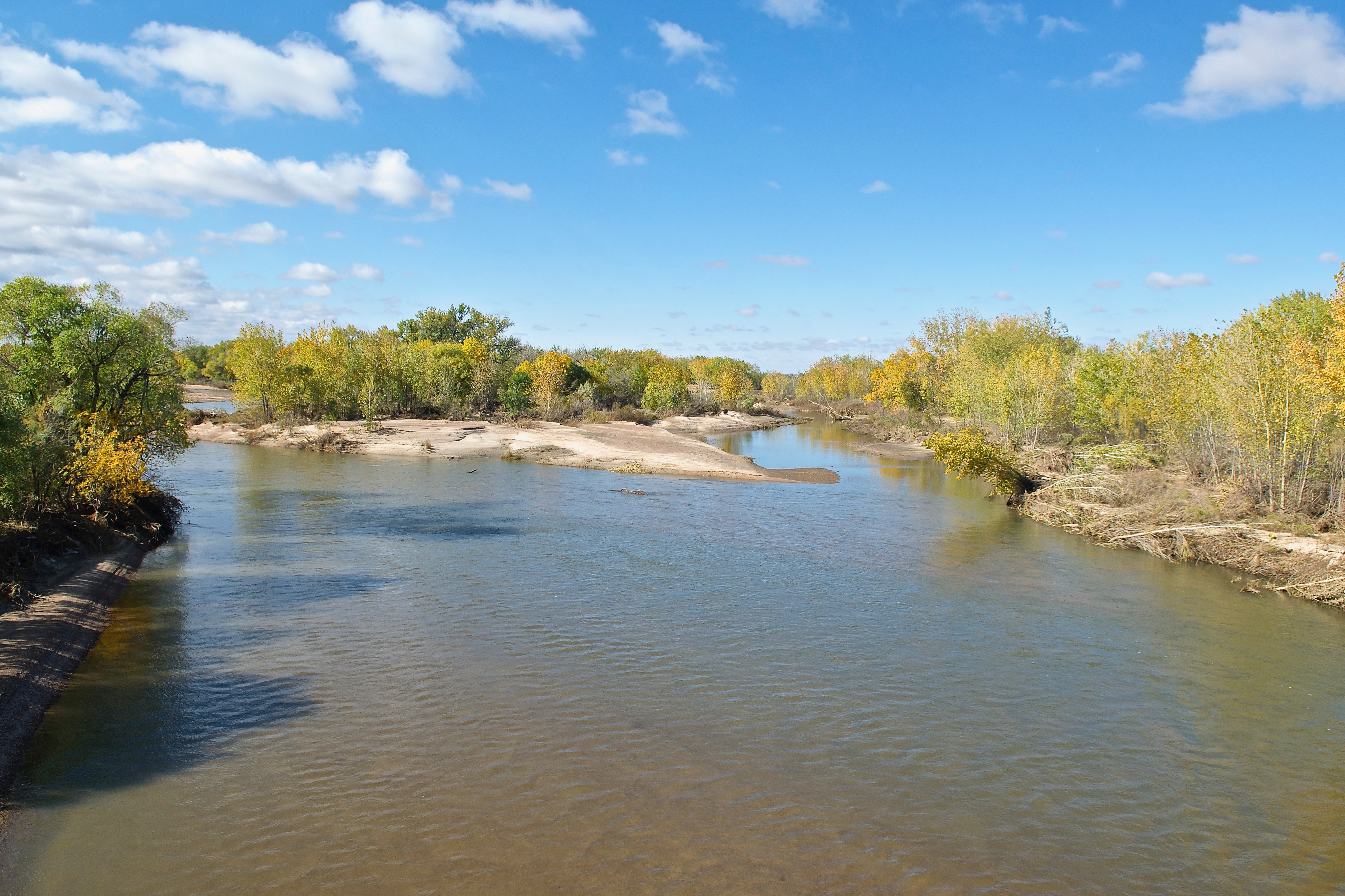 Upstream Platte at Atwood Bridge (288 cfs) (10-15-13)